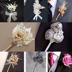 Flor de Lapela para noivo de vários tamanhos e modelos.