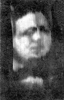 First-ever photograph of a televised human face (30 lines, 1926)