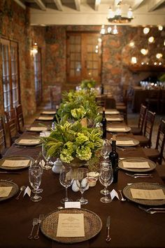 Rehearsal dinner - I like the simplicity of this table.