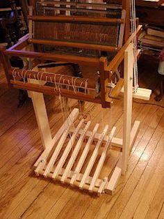 Need a stand for your loom?  Build it yourself, I just did with the help of Jenny at Daisy Hill Weaving Studio!  She is awesome!