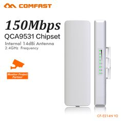 COMFAST 150Mbps wi-fi Access Point Outdoor CPE 2. 4G Wifi Bridge 1-3KM Range Extender CPE Router For IP Camera Project CF-E214N