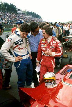 Poster Print-Formula One World Championship: Race winner Jody Scheckter Ferrari talks with Mauro Forghieri Ferrari Designer and seventh placed team Gt Cars, Race Cars, Jody Scheckter, Jochen Rindt, Belgian Grand Prix, Gilles Villeneuve, Ferrari F1, F1 Drivers, Car And Driver