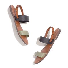 Madewell: The Slingback Boardwalk Sandal, $60  They might not look like much here, but with the right pairing, they are seriously SO adorable.