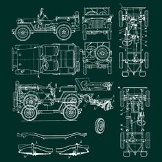 Blueprint art of patent outboard boat engine bigbluecanoe jeep blueprint by stuart stolzenberg malvernweather Images