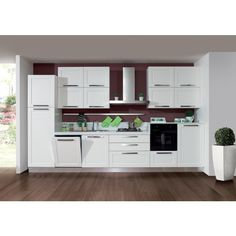 cucina in bianco frassinato e top bianco