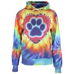 Purple Paw Tie Dye Lightweight Pullover Hoodie * Learn more by visiting the image link.
