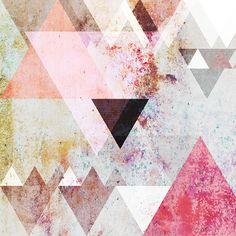Abstract graphic with textures, geometric shapes and pastel