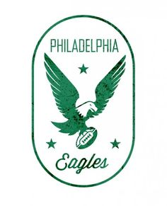 Old school eagles logo