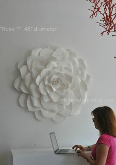 """""""Rose 1"""" by Michele Tremblay, an incredible paper artist."""