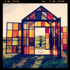Stained glass house // dwell