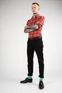 Frank Carter wearing a pair of Formale shoes