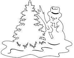 новогодние вытынанки 2017, шаблоны Дед Мороз, Снеговик, Снегурочка 1