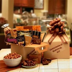 The Chocoholic's Survival Kit | gift baskets,chocolates,birthday,holidays,mothersday