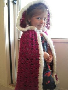 FREE PATTERN Ravelry download: fairytale hooded cape too cute!!.