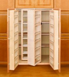 "Rev-A-Shelf 4WP18-57-KIT Natural 4WP Series 57"" Swing Out Complete Tall/Pantry with Hardware - Build.com"