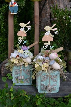 Virág Stúdió - Home Center Hoppy Easter, Easter Bunny, Easter Eggs, Easter Tree, Easter Wreaths, Spring Crafts, Holiday Crafts, Deco Floral, Easter Celebration
