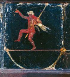 Fresco depicting a tightrope walker. Villa of Cicero, Pompeii