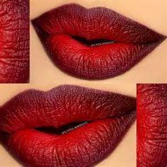 Ombre red lip | I Love Cute Makeup