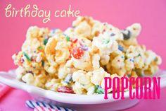 Birthday Cake Popcorn - it's addicting, but amazing!
