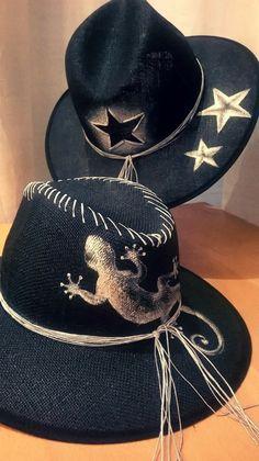 My handpainted hats!!!!By Sissy Marinou