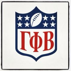 GPhiB+football=perfection. Or you could do the Crescent Moon at the top; that would be cool too..