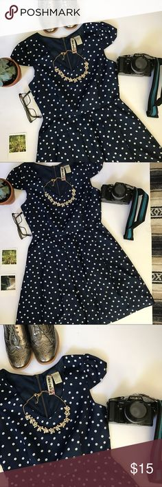 Mimi chica • polka dot • fit n flare dress Mimi chica • polka dot • fit n flare dress  •adorable fit n flare dress, wig adorable cap sleeves and fun polka dot print! •perfect for summer parties •only worn a handful of times •in amazing condition    Don't like the price? Make an offer😁 Mimi Chica Dresses
