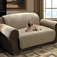 Dog Resistant Couch Covers | Microfiber Pet Furniture Covers for Sofas, Loveseats, and Chairs
