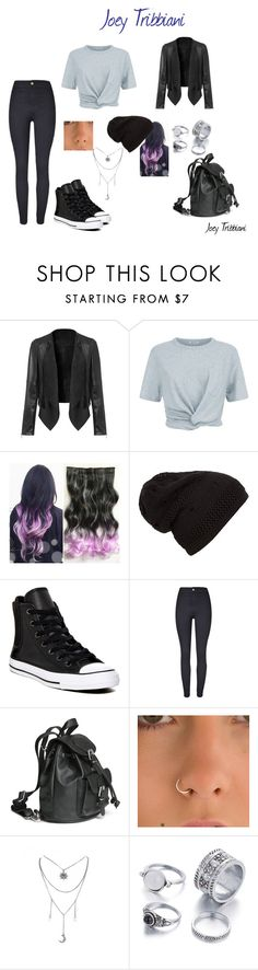 """""""Joey Tribbiani"""" by just-a-friendly-ghost ❤ liked on Polyvore featuring T By Alexander Wang, Converse and friends"""