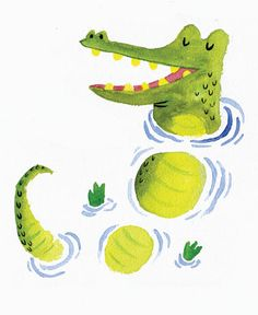 Crocodile by Ben Mantle. Love the use of white space and those not-a-care-in-the-world little blinkin' eyes.