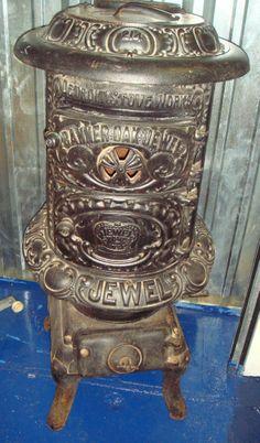Antique Pot belly Stove Banner Oak Jewel Parlor Wood/Coal Circa 1903 Stove #214