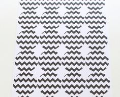 Black Chevron Stickers Envelope Seals by MailboxHappiness on Etsy, $1.99