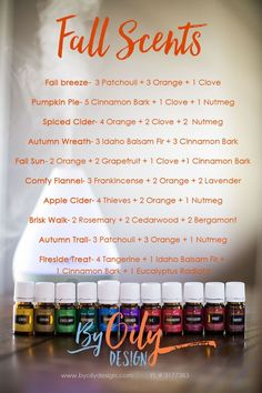 How to use Essential oils to create an amazing fall scent recipes for your home. How to use Essential oils to create an amazing fall scent recipes for your home… Fall Essential Oils, Essential Oil Diffuser Blends, Essential Oil Uses, Young Living Essential Oils, Essential Oil Candles, Essential Oils Accessories, Cinnamon Bark Essential Oil, Thieves Essential Oil, Cinnamon Oil