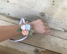 DeniMar / Náramok pre družičky Cuff Bracelets, Floral, Rings, Jewelry, Jewlery, Jewerly, Flowers, Ring, Schmuck