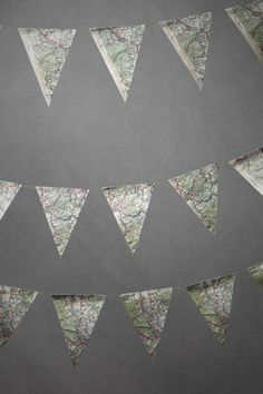 map pennant - great decor for a going away party, bon voyage, travel or return / welcome home parties
