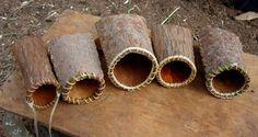 Folded Bark Baskets