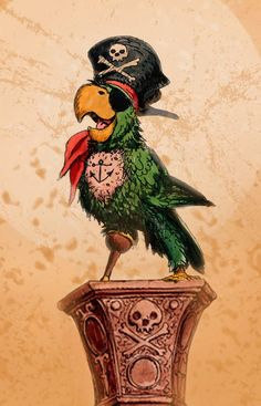 Pirate Parrot by marc davis concept art                        http://cbpirate.com/main/lmiller7