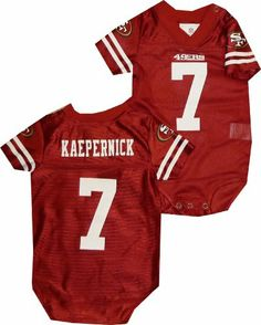 San Francisco 49ers Colin Kaepernick Infant Newborn Onesie Jersey (0-3 Months) NFL White Label http://www.amazon.com/dp/B00IVH8AME/ref=cm_sw_r_pi_dp_AKzJtb04X0KJHKGC