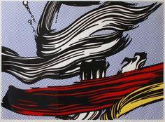 ROY LICHTENSTEIN - BRUSHSTROKES - KUNZT.GALLERY http://www.widewalls.ch/artwork/roy-lichtenstein/brushstrokes-2/ #Print