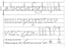 Bill Grant's calligraphy lessons and worksheets.