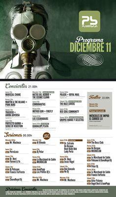 Cartel programación sala Planta Baja, diciembre 2011