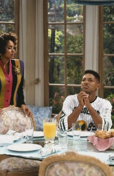 Still of Will Smith and Karyn Parsons in The Fresh Prince of Bel-Air (1990)