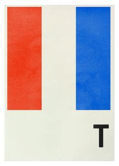 T - Navy Signal Prints