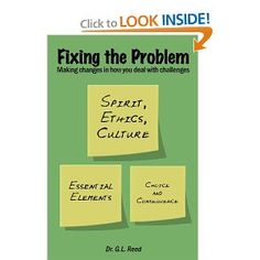 Fixing the Problem: Making changes in how you deal with challenges