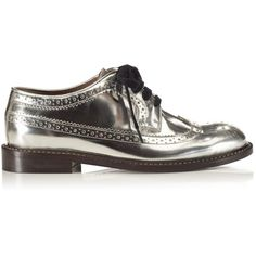 Marni Lace Up Brogue ($685) ❤ liked on Polyvore featuring shoes, oxfords, black oxford shoes, leather oxfords, black leather brogues, leather brogues and black leather shoes