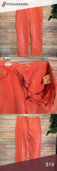 Tommy Hilfiger Woman orange jeans Sz 18 Pumpkin smasher orange Tommy Hilfiger Jeans Straight Leg