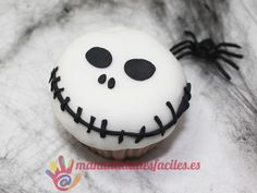 Cupcake de Jack Skellington para Halloween