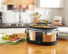 Crock-Pot® Smart Slow Cooker with WeMo™ Add flexibility to your dinner schedule.  By downloading the free WeMo App to your smart device and syncing it to the Crock-Pot®, you can enjoy remote access to all your slow cooker's functions, no matter where you are. Monitor cooking status, change cooking time, adjust the temperature or turn it on/off using your smartphone or tablet. Now there's no need to worry if you get held up at the office or stuck in traffic.