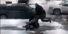 "A video of police officers striking and yelling obscenities at a man who appears to be held down on the ground has prompted an official investigation, even as a police chief defends the officers' actions as ""proper.""  The video, p..."