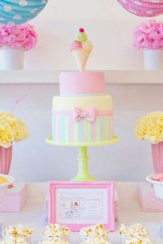 Ice Cream Social Party-The Cake