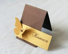 replace butterfly with flower name card